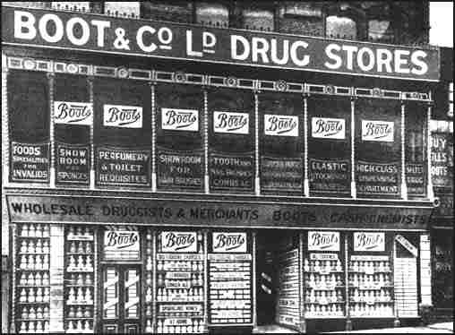 An early Boots store