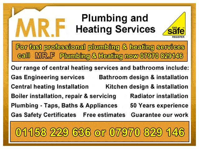 MR.F  Central Heating & Plumbing