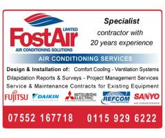 FostAir - Air Conditioning Services & Solutions -   Call 07552 167718