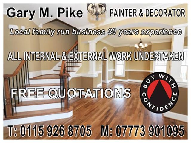 Gary M Pike - Painter & Decorator - NgTrader - Nottingham