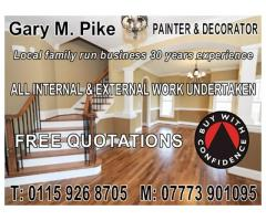 Gary M Pike - Painter & Decorator - NgTrader - Nottingham
