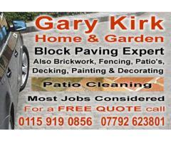 Gary Kirk - Block Paving expert - Nottingham - NgTrader