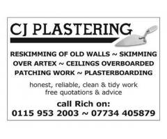 C J Plastering - Nottingham - NgTrader
