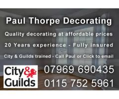 Paul Thorpe Decoratoring - Nottingham - NgTrader