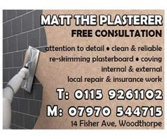 Matt The Plasterer - Nottingham - NgTrader