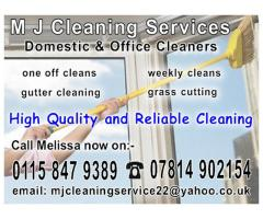 M J Cleaning Services - Domestic & Office Cleaners