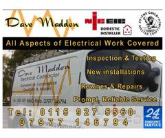 Dave Madden - All Aspects of Electrical Work - Call 07977 146794